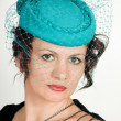 Woman in green hat — Stock Photo #6477450