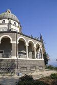 Capela franciscana católica no monte das bem-aventuranças da galiléia, israel — Foto Stock