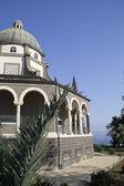 Católica capela franciscana no monte das bem-aventuranças na galiléia, é — Foto Stock