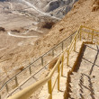Fortress Masada in Israel, Snake trail - Stock Photo
