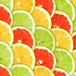 Stock Photo: Background with citrus-fruit slices