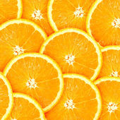 柑橘果实的橙片与抽象背景 — 图库照片