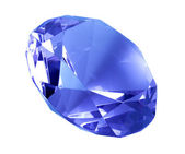 Singe blue crystal diamond — Stock Photo