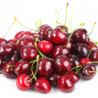 Heap of a dark-red sweet-cherry — Stock Photo