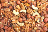 Abstract nuts background — Stock Photo