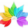 Colorful Rainbow Gradient with Group of Leafs — Stock Photo #6580258