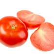 Cross and full ripe red tomatoes — Stock Photo