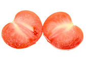 Two cross of a ripe red tomato — Stock Photo
