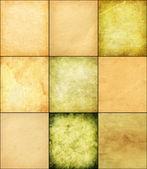 Set old paper texture. Hi res — Stock Photo
