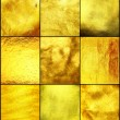 Stock Photo: Set golden texture.