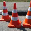Three orange cone sign — Stock Photo #6277177