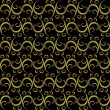 Golden-black seamless pattern — Stock Vector