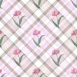 Seamless gentle floral pattern - Stock Vector