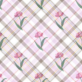 Seamless gentle floral pattern — Stock Vector