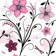White seamless floral pattern - Stock Vector