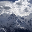 Stock Photo: Mountains in clouds