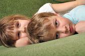 Tired kids — Stock Photo