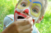 Child face mask party painting — Stock Photo