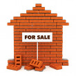 Brick house for sale — Stock Photo