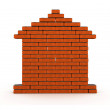 Brick house - Stock Photo