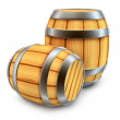 Wooden barrel for wine and beer storage isolated — Stock Photo #5783529
