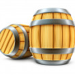 Wooden barrel for wine and beer storage isolated — Stock Photo #5783547