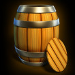 Wooden barrel for wine and beer storage isolated — Stockfoto