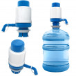 Stock Photo: Bottle with water pump