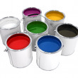 Buckets with paint - Stock Photo