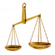 Stock Photo: Empty gold scales