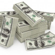 Stock Photo: Big sum of money dollars