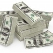 Big sum of money dollars - Stock Photo