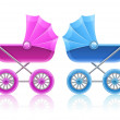 Royalty-Free Stock Photo: Carriages for baby transportation