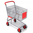 Shopping cart with clipping path - Stok fotoğraf