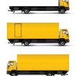 Truck car template - Stock Photo