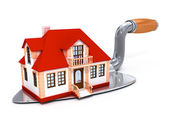 New built private house on the darby tool — Stock Photo