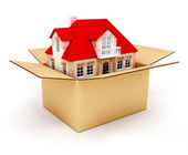 New house in box — Stock Photo