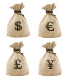 Bags with money — Stock Photo