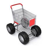 Shopping cart isolated turbo — Stock Photo