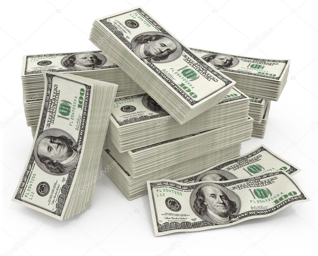 Big sum of money dollars - 3d illustration — Stock Photo #5784908