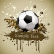 Grunge football soccer ball falling on ground - Stock Vector