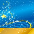 Blue vector background with stars - Grafika wektorowa