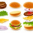 Royalty-Free Stock Vector Image: Hamburger with cheese