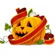 Vektor-Halloween Kürbis Gemüse Obst isoliert — Stockvektor