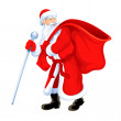 Christmas santa grandfather frost — Stock Vector