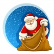 Santa Claus with empty sack for christmas gifts — Stock Vector
