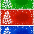 Vector christmas background for greeting card - Stock Vector