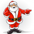 Vector Santa Claus singing Christmas song - Image vectorielle