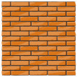 Stock Vector: Brick wall background