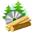 Icon for woodworking industry - Stock Vector
